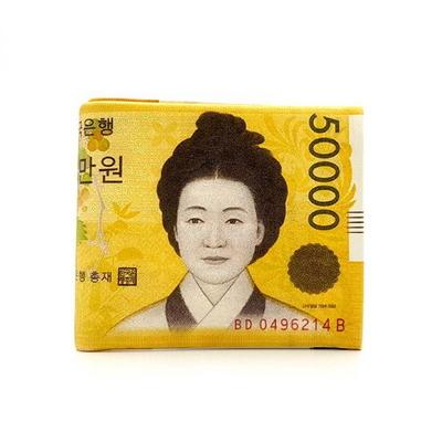 오만원 지폐 특별하고 유니크한 지갑 나와또