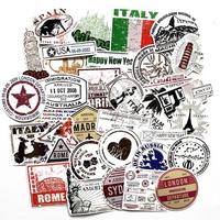여권스탬프 60종 프리미엄 캐리어 방수스티커 모음전
