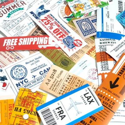 여권스탬프 30종 고품질 캐리어 노트북 방수 스티커