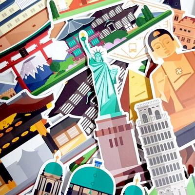 세계문화유산 25종 캐리어 노트북 방수 데코 스티커