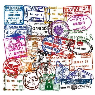 여권스탬프 50종 캐리어 노트북 방수 데코스티커