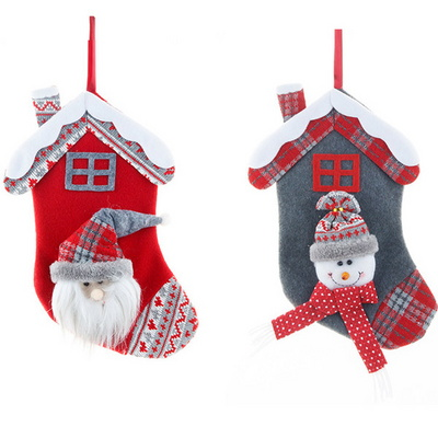 크리스마스 눈사람 데코양말 2P세트 크리스마스 장식