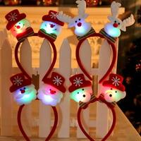 크리스마스 파티 LED 산타 루돌프 머리띠