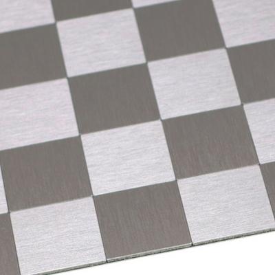 점착식 알미늄 메탈타일 체크실버 51mm (HMT99314)