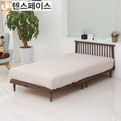 북유럽풍 플로리나 원목깔판 침대+헤드 SS (매트제외) FR02