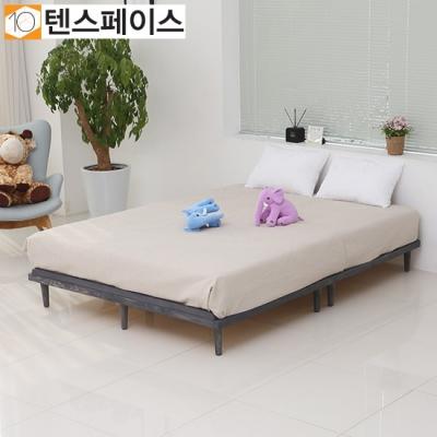 북유럽풍 플로리나 원목깔판 침대 Q (매트제외) FR03