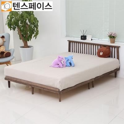 북유럽풍 플로리나 원목깔판 침대+헤드 Q (매트제외) FR04