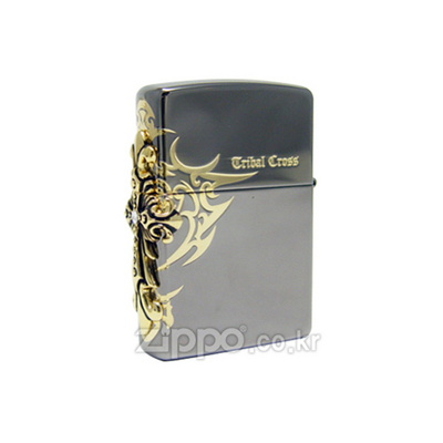 [ZIPPO] SIDE TRIBAL CROSS EMB GD