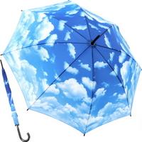 클리어 스카이 - 원목 자동장우산