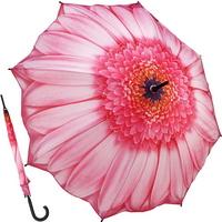 핑크 데이지 - 원목 자동장우산