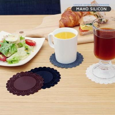 [마호]실리콘 레이스 컵받침_중 9.7cm