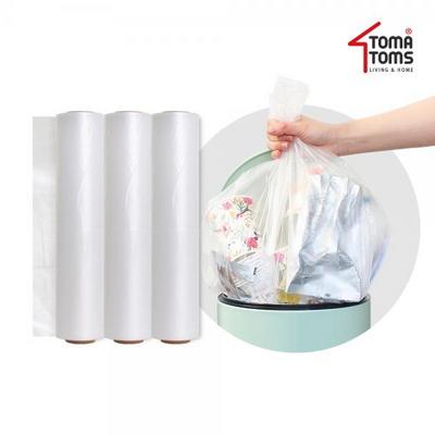 쓰레기통/분리수거함 전용 비닐봉지 40L(롤백 90매입) 3팩(총 270매)