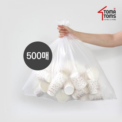 [토마톰스]쓰레기/분리수거함 비닐봉투 40L 100매 5개