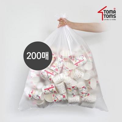 [토마톰스]쓰레기/분리수거함 비닐봉투 80L 100매 2개
