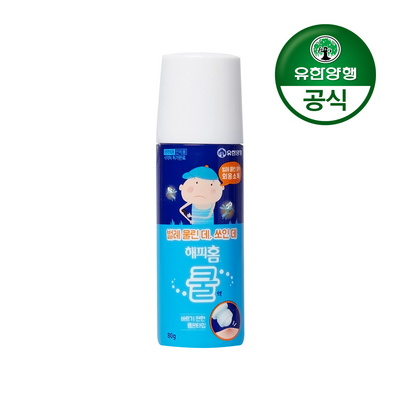 [유한양행]해피홈 바르는 물파스 쿨액 80g(대용량)