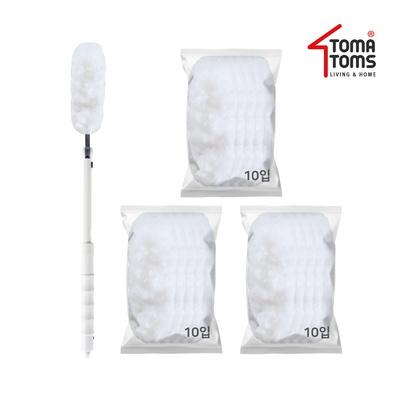 [토마톰스]더스틱 롱 핸들 양면 먼지떨이+리필 소(10입) 3개