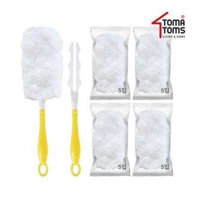 [토마톰스]더스틱 양면 먼지떨이 2개+리필 대(5입) 4개