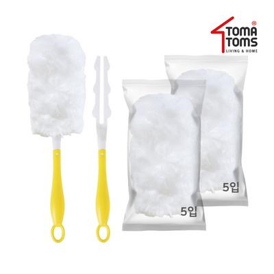 [토마톰스]더스틱 양면 먼지떨이 2개+리필 대(5입) 2개