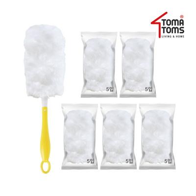 [토마톰스]더스틱 양면 먼지떨이+리필 대(5입) 5개