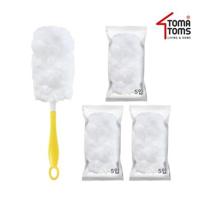 [토마톰스]더스틱 양면 먼지떨이+리필 대(5입) 3개