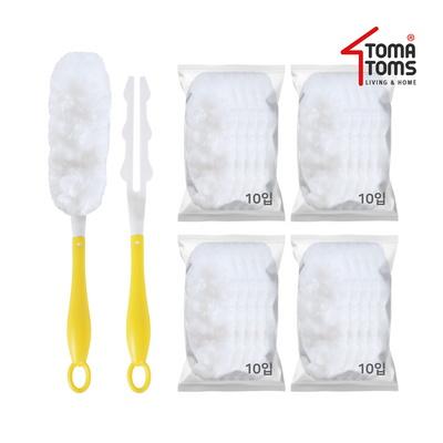 [토마톰스]더스틱 양면 먼지떨이 2개+리필 소(10입) 4개