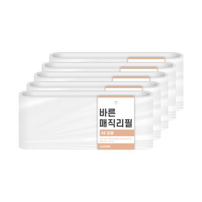 [바른]바른 매직리필 9L(220)용 연속비닐(매직캔 호환) 5개