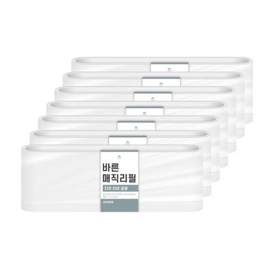 [바른]바른 매직리필 22L 25L(280)용 연속비닐(매직캔 호환) 7개
