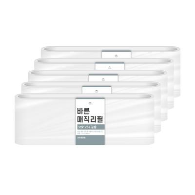 [바른]바른 매직리필 22L 25L(280)용 연속비닐(매직캔 호환) 5개