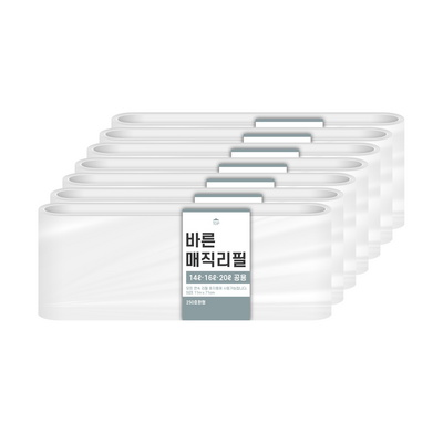 [바른]바른 매직리필 14L 16L 20L(250)용 연속비닐(매직캔 호환) 7개