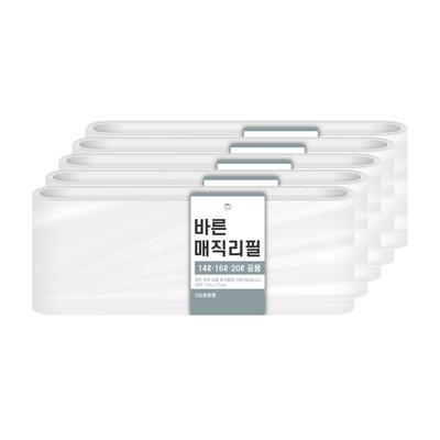 [바른]바른 매직리필 14L 16L 20L(250)용 연속비닐(매직캔 호환) 5개