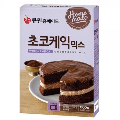 (한박스/10개입) 큐원 초코케익믹스 (전자레인지용)
