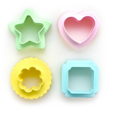 옥수수 쿠키커터 4P세트 3 (별,하트,클로버,사각)