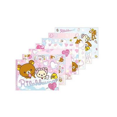 리락쿠마 위드하트 메모패드 - 세가족(15cm) MM-99101