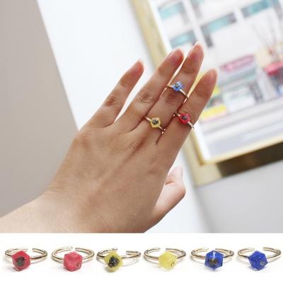 큐브 운석 반지 - 아름다움에 신비를 더하다