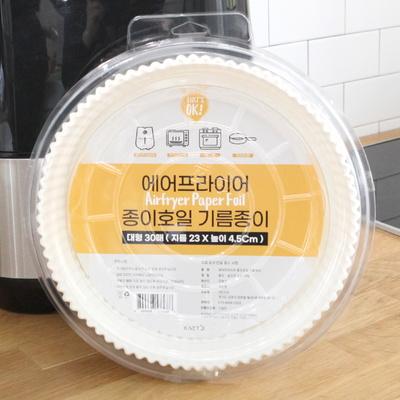 에어프라이어종이호일기름종이대형30매(23x4.5Cm)