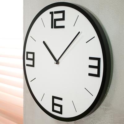 클래식 입체원형 무소음벽시계