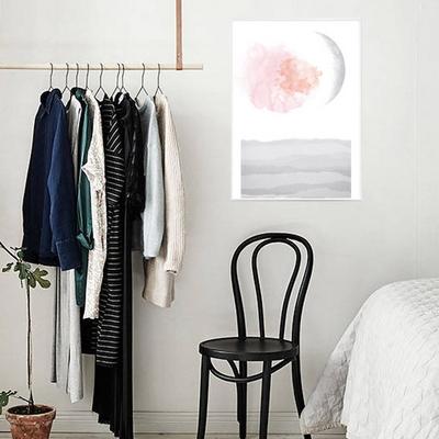 거실 인테리어 그림액자 모던아트 북유럽 디자인 핑크 문