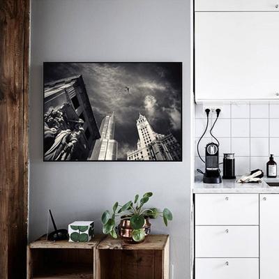 거실액자 모던 인테리어 북유럽 흑백사진 빌딩숲
