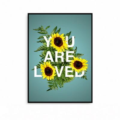 해바라기그림 액자 꽃그림 포스터 황금 거실 대형 LOVED