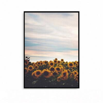 해바라기그림 액자 꽃그림 포스터 황금 거실 꽃밭