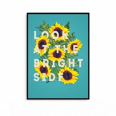 해바라기 현관액자 꽃그림 포스터 황금 거실 대형 LOOK