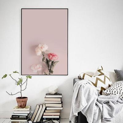 패브릭 포스터 인테리어 식물 그림 액자 모란꽃