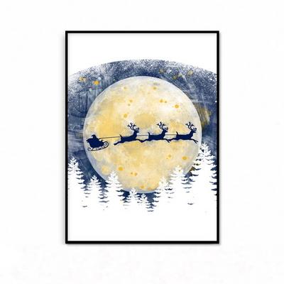 루돌프 크리스마스 인테리어 그림 액자 패브릭 포스터