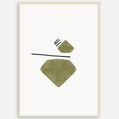 패브릭 포스터 거실 인테리어 그림 액자 추상화 도형A