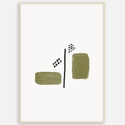 패브릭 포스터 거실 인테리어 그림 액자 추상화 도형B