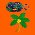 갤럭시 버즈케이스+키링SET - Funky Palm Tree
