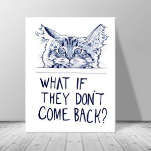 인테리어 동물 고양이 캔버스 액자 zo(33)
