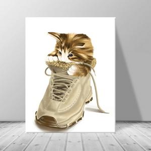 인테리어 동물 고양이 캔버스 액자 zo(34)