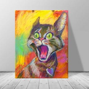 인테리어 동물 고양이 캔버스 액자 zo(35)