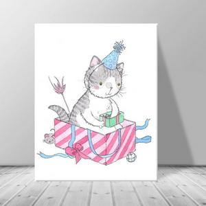 인테리어 동물 고양이 캔버스 액자 zo(37)